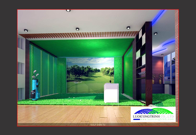 Hình ảnh phòng tập Golf 3D.
