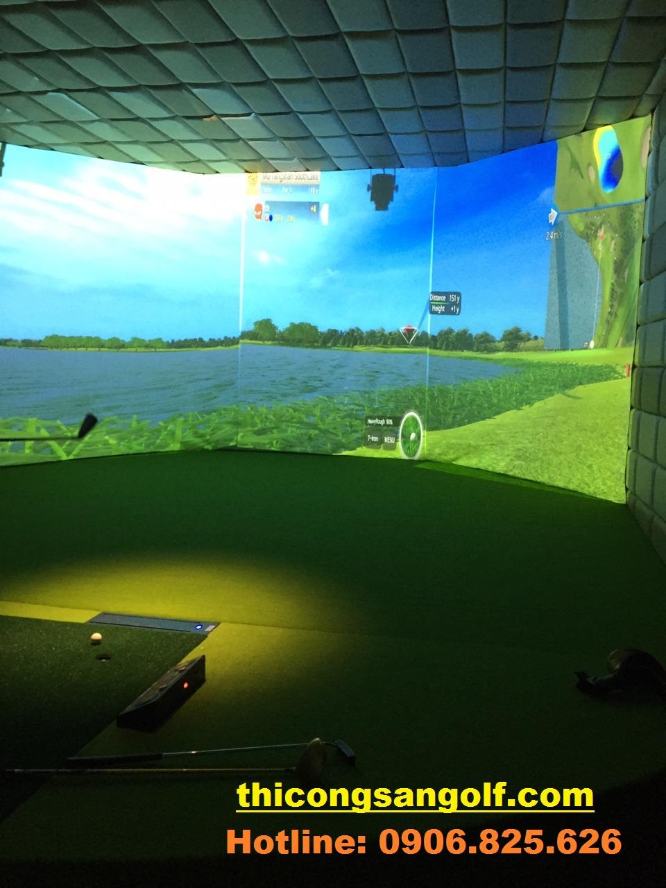quy trình thi công phòng Golf 3D.