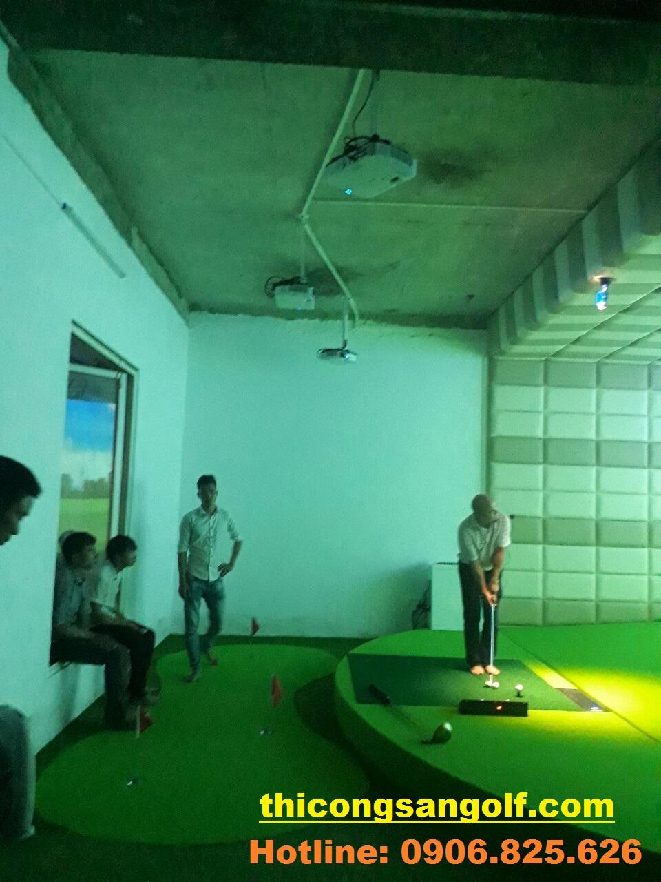 quy trình thi công Golf 3D.
