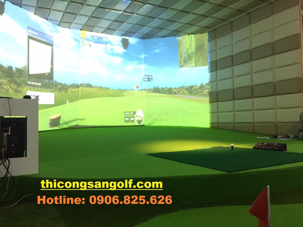 quá trình thi công Golf 3D.