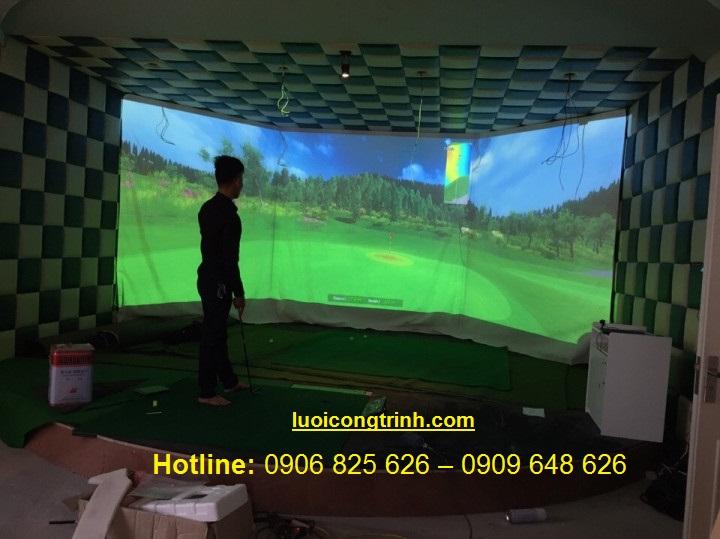 Phòng tập Golf 3D  3 màn hình.